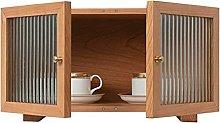 ZYR Desktop Storage Cabinet Cherry Wood Double