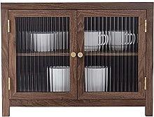 ZYR Desktop Storage Cabinet With Glass Door