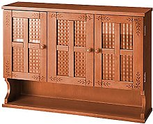 ZYR Pine Solid Wood Sideboard With Glass Door
