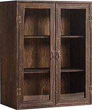 ZYR Solid Wood Tea Cabinet Dustproof Tea Cup