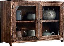 ZYR Wood Tea Set Cabinet Kitchen Bathroom
