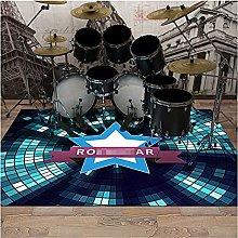 ZYS Rectangle Bedroom Drum Carpet, Noise Damping