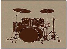 ZYS Rectangle Household Drum Carpet, Drum Rug