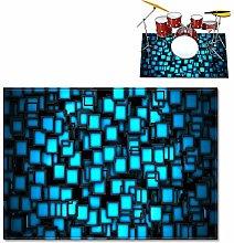 ZYS Soundproof Drum Carpets, Drum Rug Drum,
