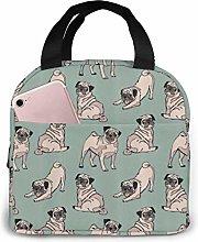 ZYWL antfeagor Cute Pug Lunch Bag Cooler Bag Women