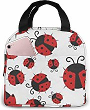 ZYWL Funny Ladybug Printed Insulated Lunch Bag for