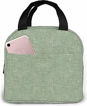 ZYWL ~ Solid Light Sage Green Linen Neoprene Lunch