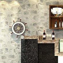 zyy DIY Walls 3D Stone Wall Wallpaper, Sidewall
