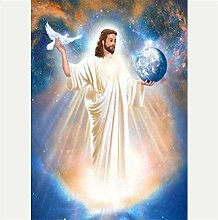 Zyysyzsh DIY 5D Diamond Painting Kit,Planet Jesus