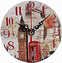 Zyyuk Vintage Silent Wall Clock Living Room Clocks