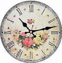 ZYZYY Shabby Chic,Wall Clocks,Vintage Wall