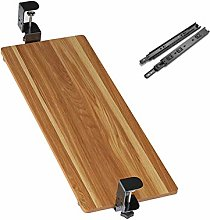 ZYZZ Wooden Keyboard Tray Clamp Ergonomic Clamp-on