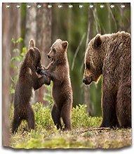 ZZ7379SL Battle bear baby Bathroom shower curtain
