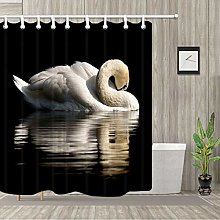 ZZ7379SL Black background 1 white swan theme