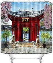 ZZ7379SL Chinese Botanical Garden Bathroom curtain