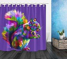 ZZ7379SL Colorful cute squirrel shower curtain