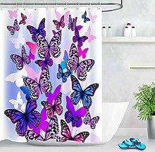 ZZ7379SL Purple dream butterfly shower curtain