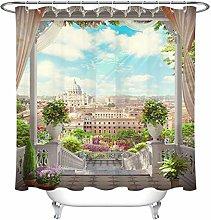 ZZ7379SL Roman Garden Staircase Flower Bathroom