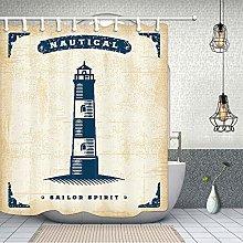 ZZ7379SL Sea lighthouse Bathroom Shower Curtain