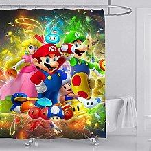 ZZ7379SL Super Mario printed bathroom curtains are