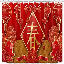 ZZ7379SL Traditional Chinese New Year Bathroom
