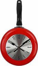 ZZABC GZHJJZHSH Wall Clock Metal Frying Pan Design