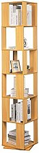 Zzaoxin Bookcase Rotating 6 Tiers Bookshelf Wooden