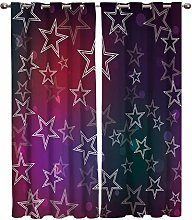 ZZDXW Blackout Curtains for Bedroom Purple Red