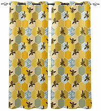 ZZDXW Blackout Curtains for Bedroom Yellow Animal