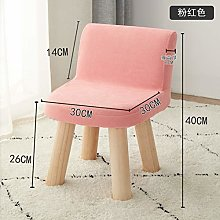 ZZFF Dressing Table Stool,Children Solid Wood