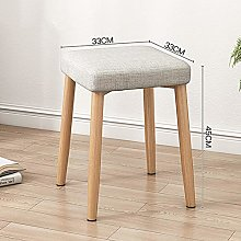 ZZFF Linen Square Vanity Dressing Stool,Upholstery