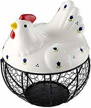 ZZFF Metal Egg Basket,Farmhouse Wire Egg Storage
