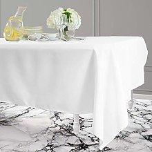 ZZFF Solid Color Cotton Linen Tablecloth,washable