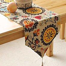 ZZFF Table Runner Bohemian Cotton,Vintage Mandala