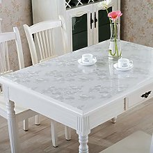 ZZFF Thick Crystal Clear Plastic Table
