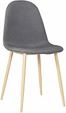 ZZFF Upholstered Seat Chair With Wooden Effect
