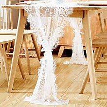 ZZFF White Lace Table Runner,Vintage Wedding