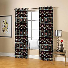 ZZFJFQ 3D Window Blackout Curtain Abstract &