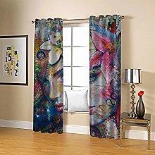 ZZFJFQ 3D Window Blackout Curtain Flowers & Beauty