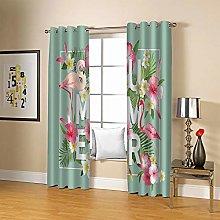 ZZFJFQ 3D Window Blackout Curtain Flowers &