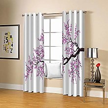ZZFJFQ 3D Window Blackout Curtain Pink & Winter