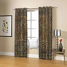 ZZFJFQ 3D Window Blackout Curtain Vintage &