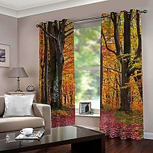 ZZFJFQ Blackout Curtains Bedroom Yellow&Forest