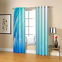 ZZFJFQ Super Soft Thermal Insulated Curtains Blue