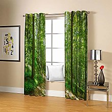 ZZFJFQ Super Soft Thermal Insulated Curtains Green