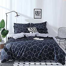 zzkds Geometric Duvet Cover Set Bedding Sets For