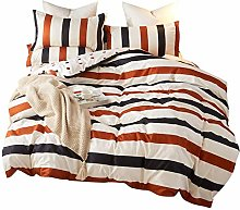 zzkds Stripe Duvet Cover Set Bedding Sets For
