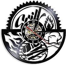 ZZLLL BBQ Party Creative Kitchen Vinyl Record Wall