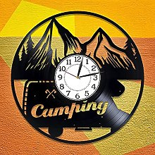 ZZLLL Camping vinyl clock, suitable for ladies