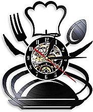 ZZLLL Chef hat decoration wall clock creative